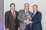 (L-R) Leidos Defense and Intelligence Group President, Tim Reardon, and Tony Toth, from the CBRNE Team, accepting the award for Excellence in Collaboration - Business Development, with Leido ...