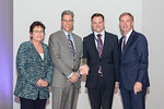 (L-R) Leidos Chief Administrative Officer, Mary Craft, Michael Coogan and Chris Doud, from the Leidos Scoop Ice Cream Truck Team, accepting the award for Excellence in Marketing and Communic ...