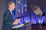 Chairman & Chief Executive Officer, Roger Krone, makes opening remarks at the Leidos Achievement Awards ceremony on January 31, 2017.
