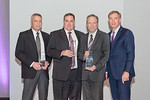 (L-R) Eric Freeman, Bill Wolf, Mike Sapp, and Chairman and CEO Roger Krone at the Leidos Achievement Awards ceremony on January 31, 2017.   Eric, Bill and Mike received a CEO Award on behalf ...