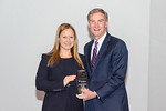 (L-R) LCS T MI Transition Project Lead, Daphne Davis, receiving the Rising Star award from Leidos Chairman of the Board & CEO, Roger Krone at the Leidos Achievement Awards ceremony on Januar ...